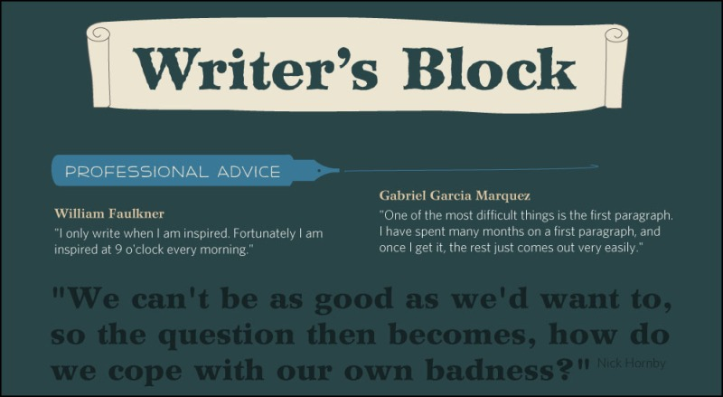 Advice for writers from writers - keep writing!